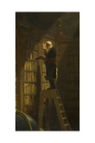 The Bookworm, C. 1850 Gicléetryck av Carl Spitzweg