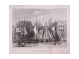Billingsgate Wharf, London, C1840 Giclee Print