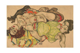 Two Girls Lying Entwined, 1915 Giclee Print by Egon Schiele