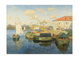 Town on the Volga River, 1913 Giclee Print by Konstantin Ivanovich Gorbatov