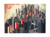 Metropolis by Fritz Lang, 1926 Giclee Print by Boris Konstantinovich Bilinsky