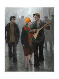 A Young Couple, 1920s Giclée-Druck von Ivan Alexeyevich Vladimirov