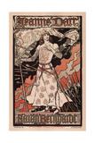 Sarah Bernhardt as Joan of Arc, 1893 Giclee Print by Eugène Grasset