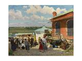 View of Plyos, 1918 Giclee Print by Alexander Vladimirovich Makovsky