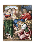Mary Magdalene Anointing the Feet of Jesus, C1860 Giclee Print