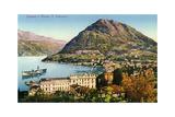 Lugano and Monte San Salvatore, Switzerland, 20th Century Giclee Print