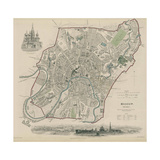 Map of Moscow, 1836 Giclee Print by W.B. Clarke