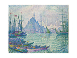 The Golden Horn, Minarets, 1907 Gicléetryck av Paul Signac