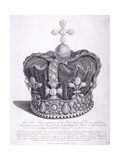 Imperial Crown of State Worn by King George III on His Coronation, 1763 Giclee Print by Edward Rooker