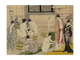 The Bathhouse Women, 1790S Giclee Print by Torii Kiyonaga