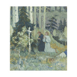 The Founding of the Trinity-Sergius Monastery Giclee Print by Mikhail Vasilyevich Nesterov