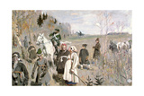 Hunting at the Time of the Tsar Peter the Great, 1907 Giclee Print by Sergei Arsenyevich Vinogradov