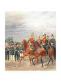 Officers from Cavalry Mounted Regiment Giclee Print by Karl Karlovich Piratsky