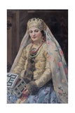 Portrait of the Artists Wife, 1917 Giclee Print by Ivan Semyonovich Kulikov