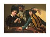 The Cardsharps Giclée-tryk af Caravaggio
