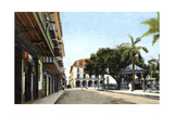Central Park and Canal Building, Panama City, Panama, C1920S Giclee Print