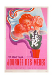 Mother's Day, 21st May 1944, Vichy French Poster, 1944 Giclee Print