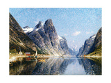 A Norweigan Fjord Scene Giclee Print by Adelsteen Normann