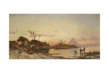 The Banks of the Nile Giclee Print by Hermann David Salomon Corrodi