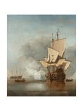 The Cannon Shot, C. 1680 Giclee Print by Willem Van De Velde The Younger