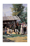 Russian Soldiers in a Country Village, 1877 Giclee Print by Nikolai Dmitrievich Dmitriev-Orenburgsky