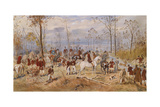 Fox Hunting, C. 1890 Giclee Print by Julius von Blaas