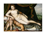 Venus and Cupid Giclee Print by Frans Floris the Elder