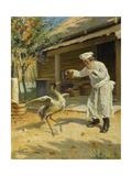 Dancing Crane, 1897 Giclee Print by Alexander Vladimirovich Makovsky