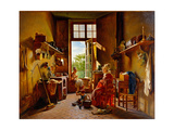 Kitchen Interior Giclee Print by Martin Drolling