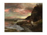 Evening Sun at Posillipo Giclee Print by Oswald Achenbach