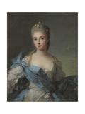 Portrait of Duchesse De La Rochefoucauld Giclee Print by Jean-Marc Nattier