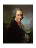 Portrait of Ivan Mikhailovich Yakovlev, 1800 Giclee Print by Vladimir Lukich Borovikovsky