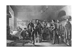Queen Victoria (1819-190) Visiting Wounded Soldiers, 19th Century Giclee Print