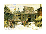 Old Moscow. the Wooden City, 1902 Giclee Print by Appolinari Mikhaylovich Vasnetsov
