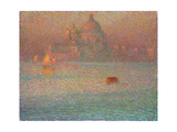 Fireworks. Winter Morning in Venice, 1907 Gicleetryck av Henri Le Sidaner
