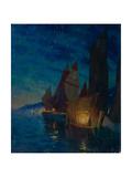 Sails at Night Giclee Print