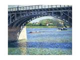 Le Pont D'Argenteuil Et La Seine, Ca. 1883 Giclee Print by Gustave Caillebotte