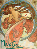 Dance (From the Series the Art), 1898 Giclee Print by Alphonse Mucha