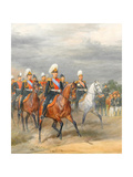 Officers of the Cavalry Mounted Regiment Giclee Print by Karl Karlovich Piratsky