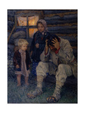 Mourning, 1909 Giclee Print by Nikolai Petrovich Bogdanov-Belsky
