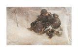 Snowstorm, Children Giclee Print by Nikolai Petrovich Bogdanov-Belsky