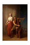 Idun and Bragi, 1846 Giclee Print by Nils Jakob Blommér