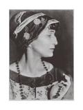 Portrait of the Poetess Anna Akhmatova (1889-196), 1924 Giclee Print by Moisei Solomonovich Nappelbaum