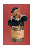 Sailor Smoking a Pipe and Drinking Rum, 1900 Giclee Print