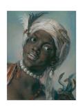 Afrika Giclée-tryk af Rosalba Giovanna Carriera