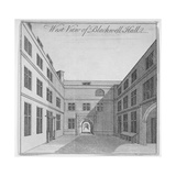 West View of Courtyard in Blackwell Hall, City of London, 1750 Giclee Print