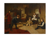 Children Playing in an Interior, 1893 Giclee Print by Harry Brooker