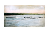 A Trial Spin of the Cornell Crews on Cayuga Lake, 1906 Giclee Print