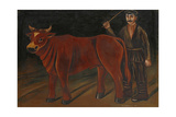 Farmer with Bull, 1916 Giclee Print by Niko Pirosmani