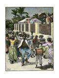 Slavery Emancipation Festival in Barbados, C1880 Giclee Print